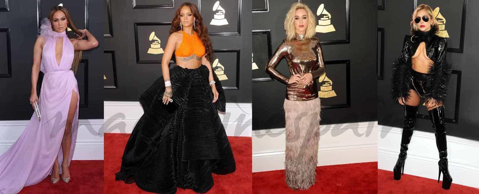 Divas y más divas… Los looks de los Grammy 2017