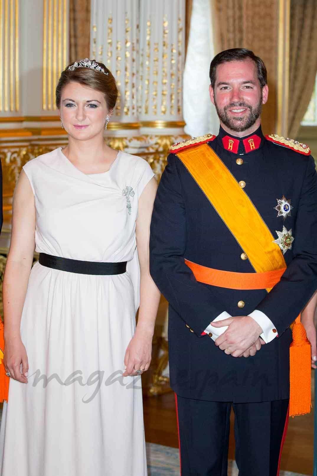 gran-duque-guillermo-y-gran-duque-stephanie en el dia de luxemburgo