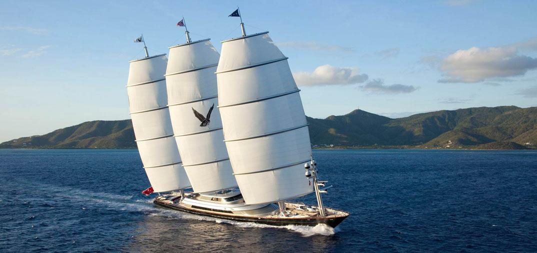 El Halcón Maltés, el velero más lujoso del mundo, vacaciones en la Costa Azul con su propietaria