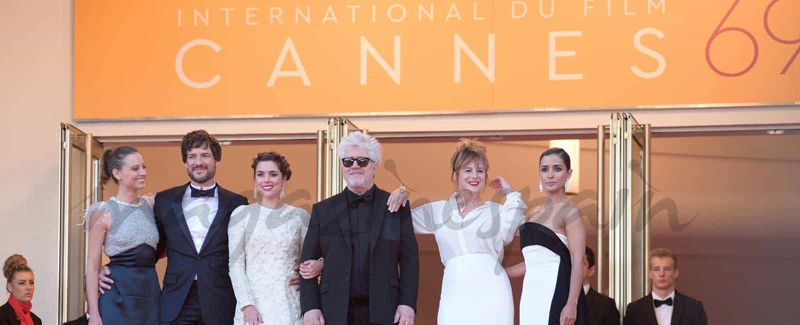 Festival de cine de Cannes: Espectacular alfombra roja para «Julieta»