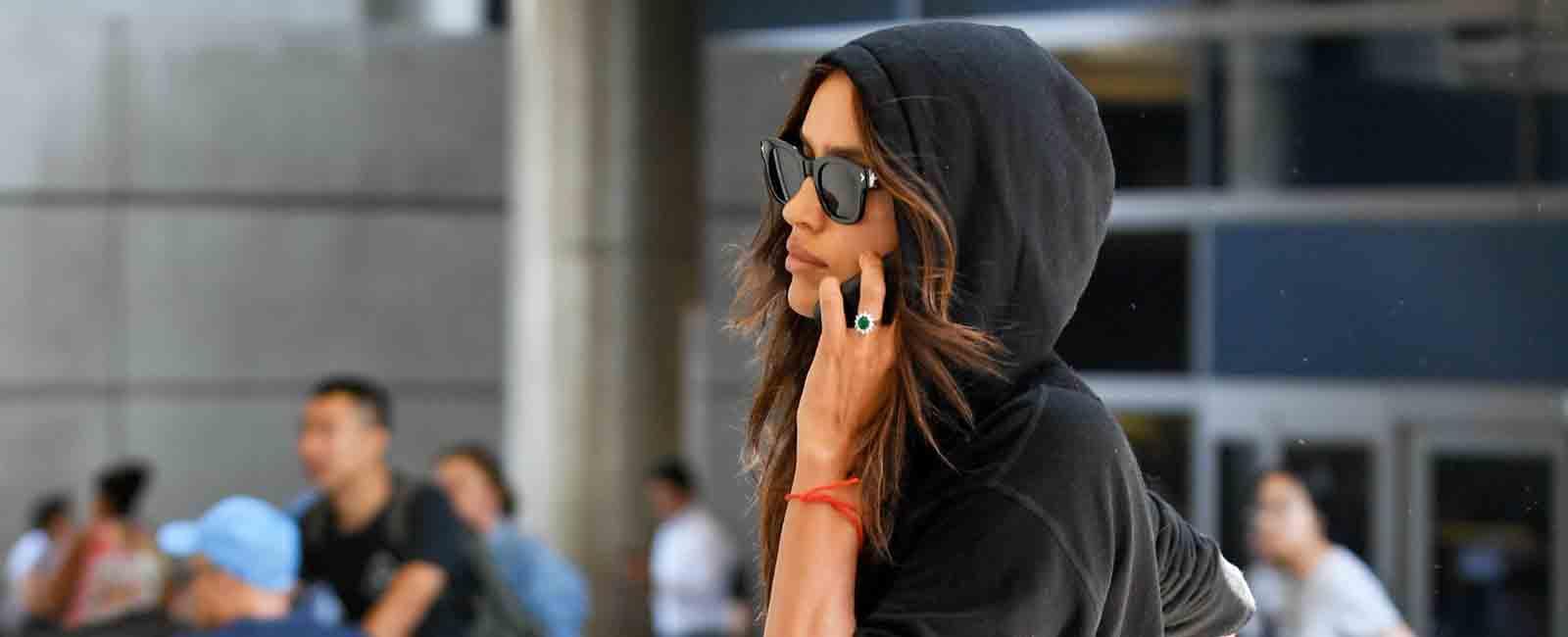 Irina Shayk no quiere ser reconocida en el aeropuerto de Los Ángeles