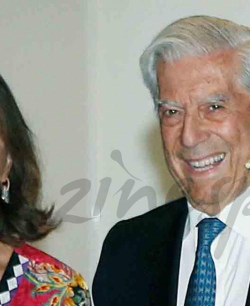 Isabel Preysler elige un vestido-kimono para la presentación del nuevo libro de Mario Vargas Llosa