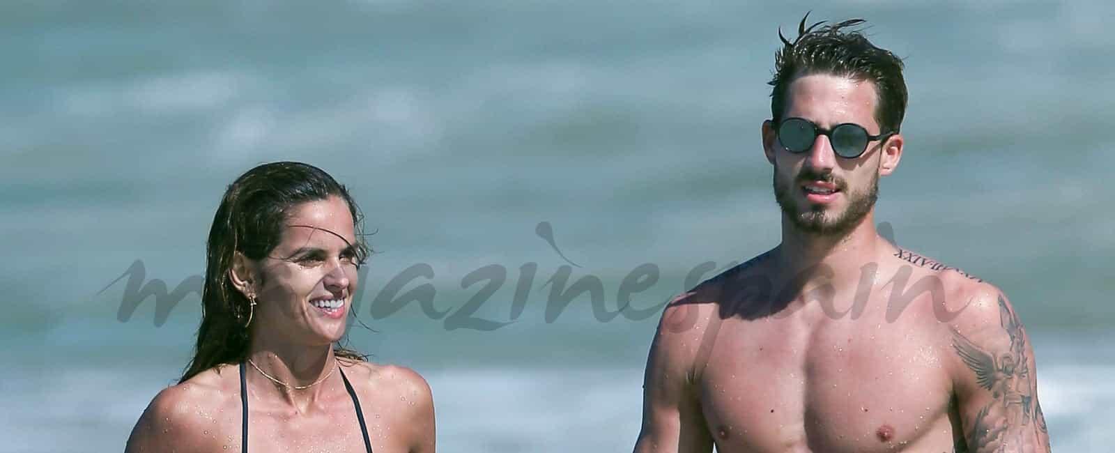 Izabel Goulart y Kevin Trapp, dos «cuerpazos» al sol