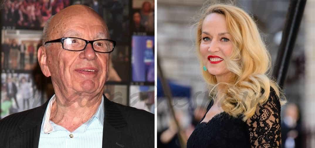 Rupert Murdoch (84) y Jerry Hall (59), nueva pareja