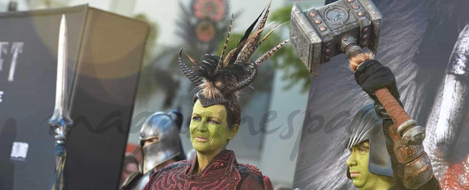 """Jamie Lee Curtis y su hijo, fans de """"Warcraft"""""""