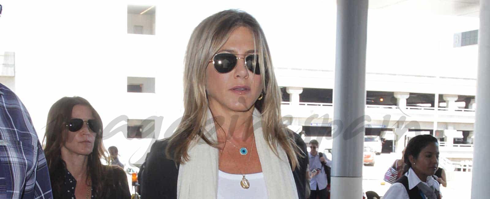 Jennifer Aniston enfadada con la prensa