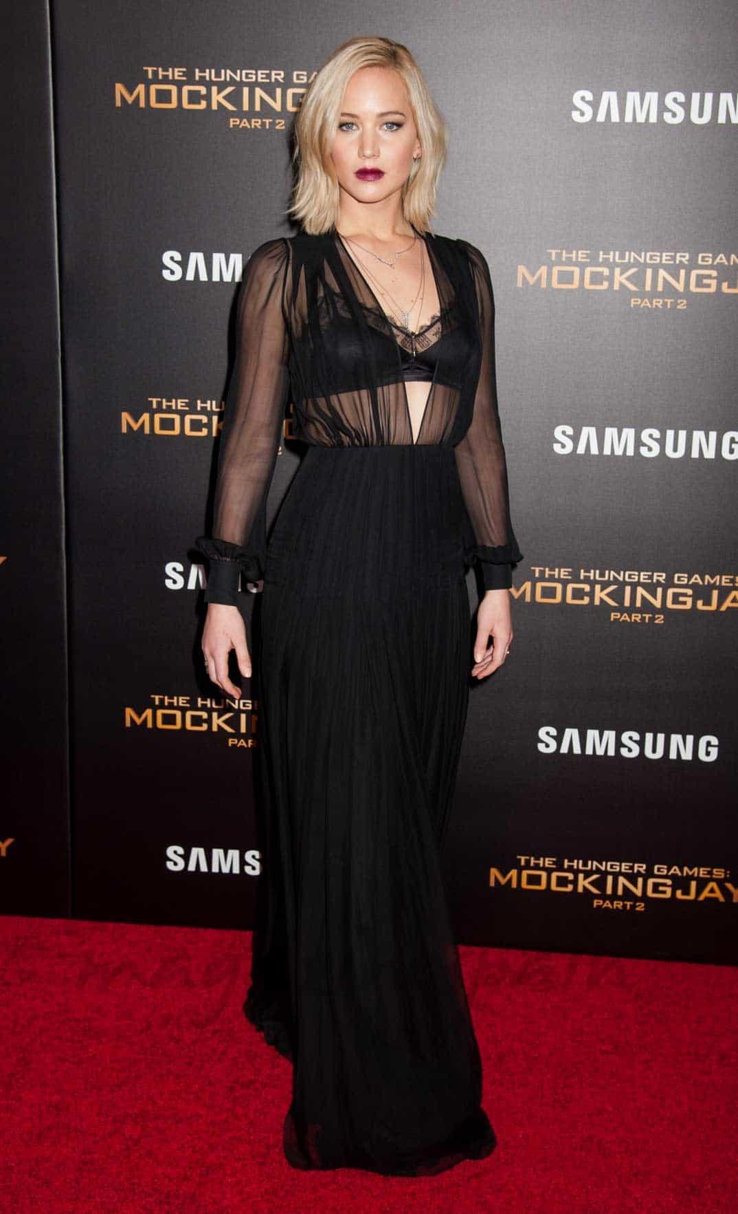 Jennifer Lawerence Sinsajo 2, estreno Nueva York