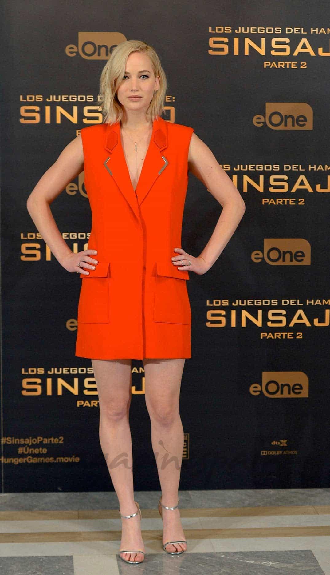 Jennifer Lawerence Sinsajo 2, photocall Madrid