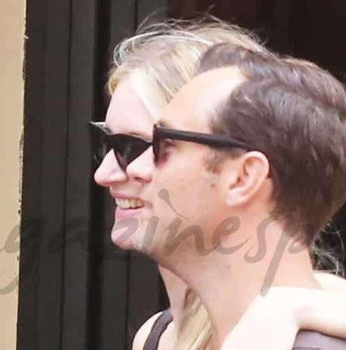 Jude Law y Phillipa, enamorados en Roma