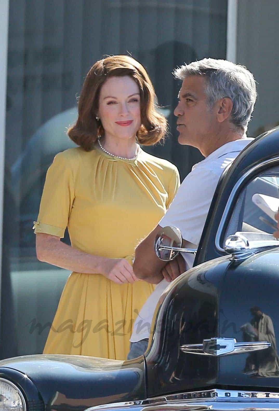 Julianne Moore y George Clooney