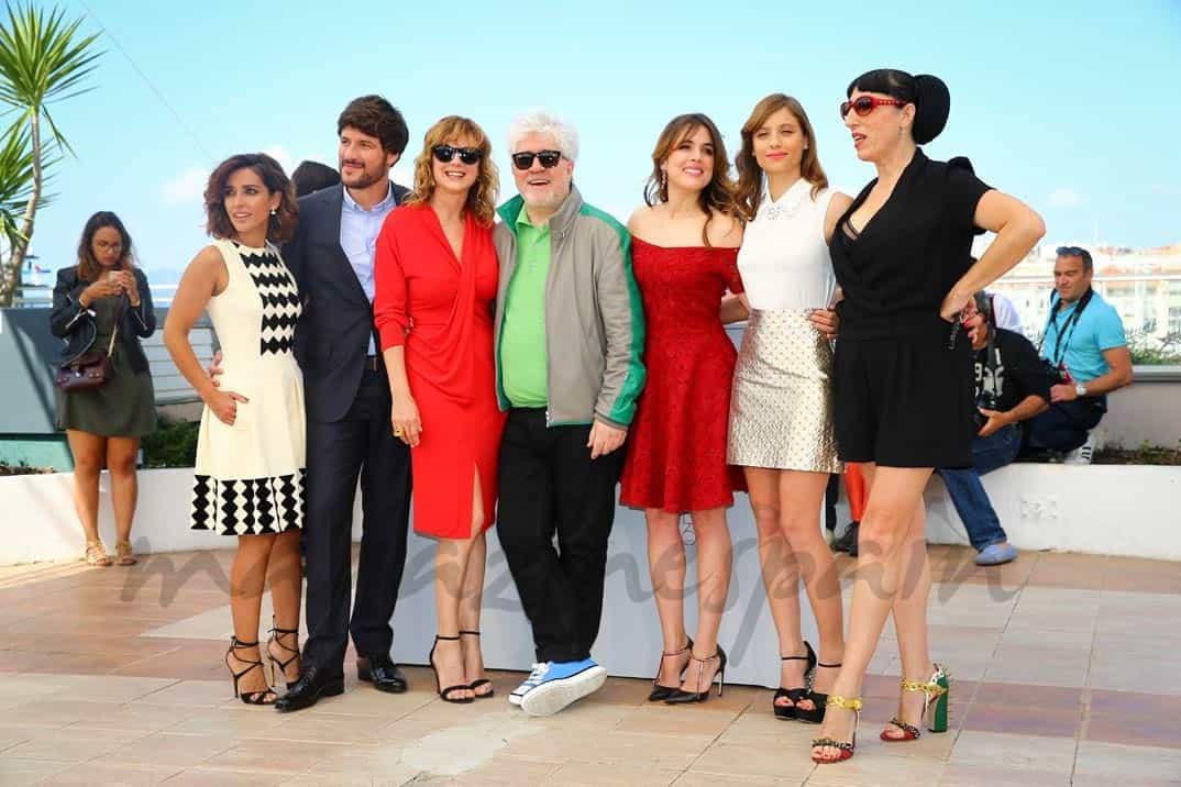 Inma Cuesta, Daniel Grao, Rossy de Palma, Emma Suarez, director Pedro Almodovar, Adriana Ugarte, Michelle Jenner