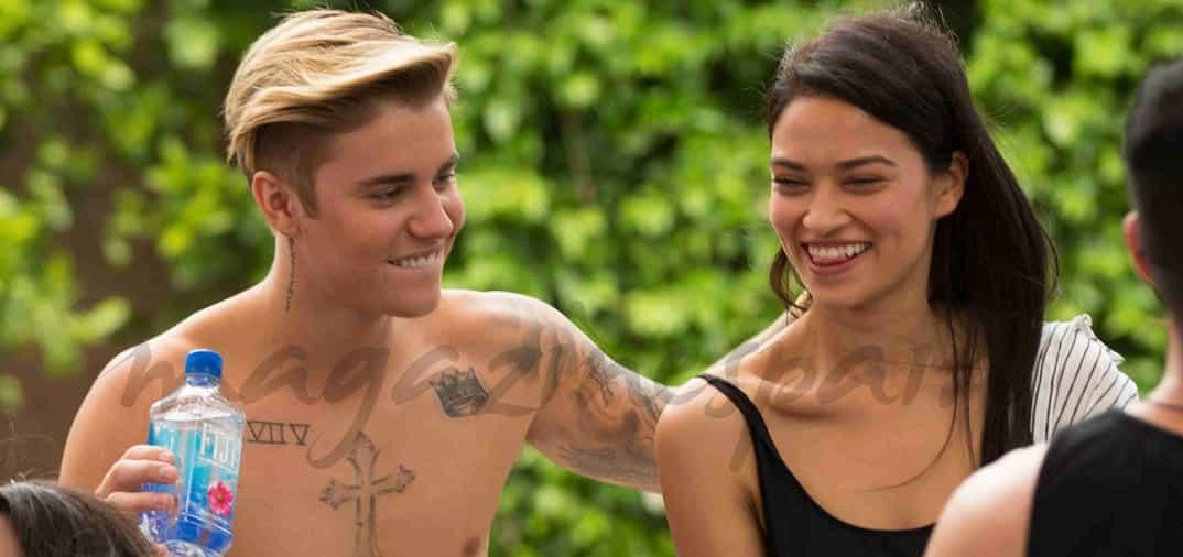 Justin Bieber se divierte con Shanina Shaik