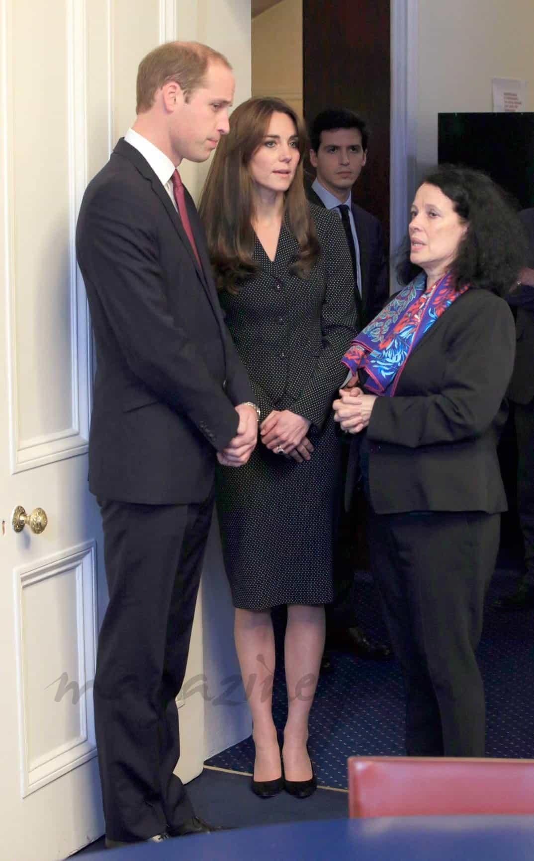 Los Duques de Cambridge con la embajadora de Francia en Londres, Sylvie Bermann