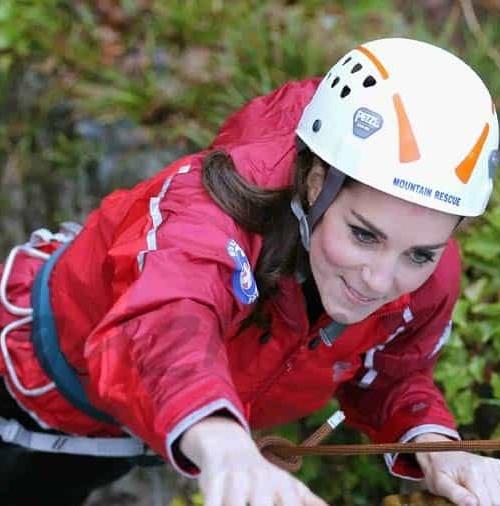 La Duquesa de Cambridge, experta escaladora