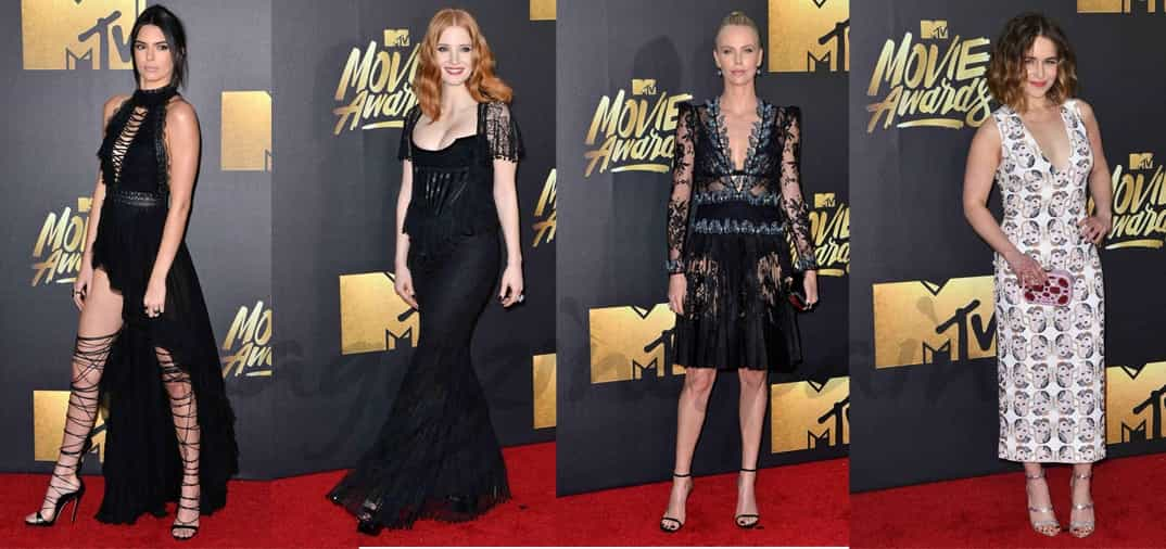 Premios MTV: Charlize Theron, Kendall Jenner, Jessica Chastain…