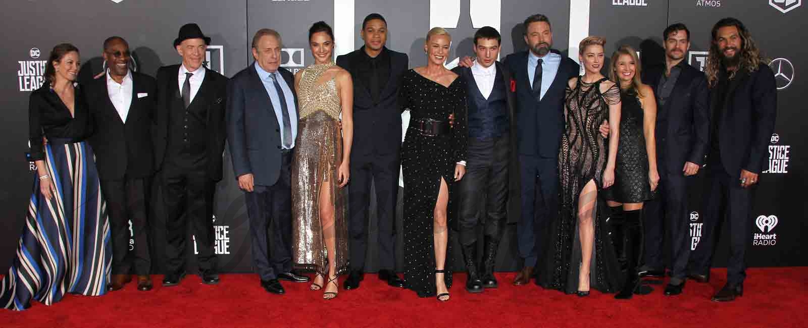 "La alfombra roja del estreno mundial de ""Liga de la justicia"""