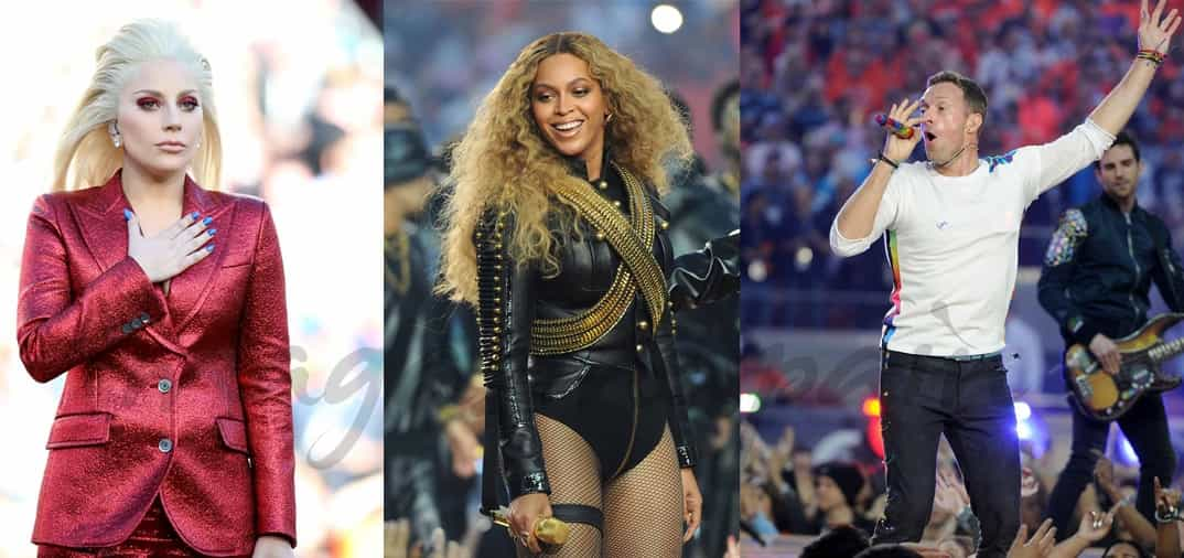Beyoncé, Lady Gaga y Coldplay, triunfan en la Super Bowl