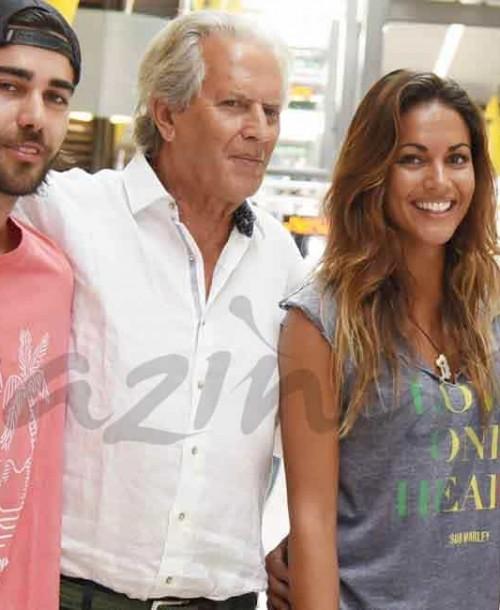Lara Álvarez en familia