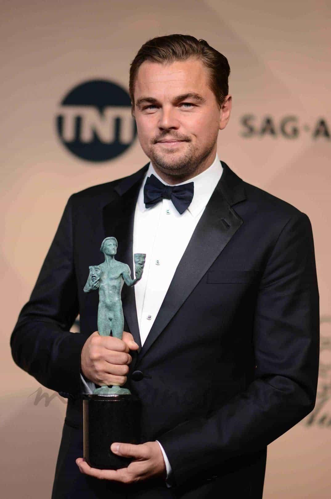 leonardo dicaprio premio mejor actor por la asociacion de actores