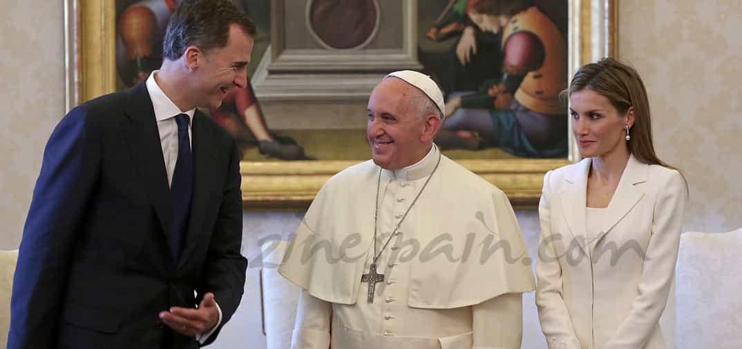 Los reyes Felipe VI y Letizia en el Vaticano
