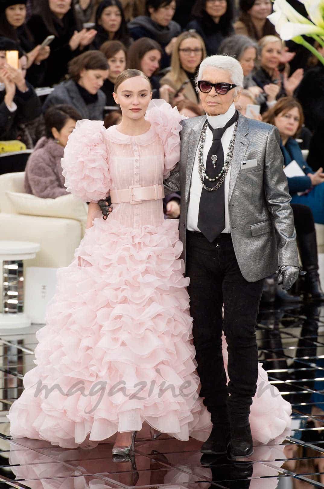 Lili Rose Depp y Karl Lagerfeld- Chanel Alta Costura P/V 2017