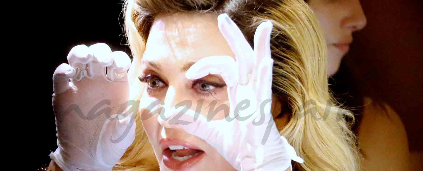 La cantante Madonna maquilladora por un día