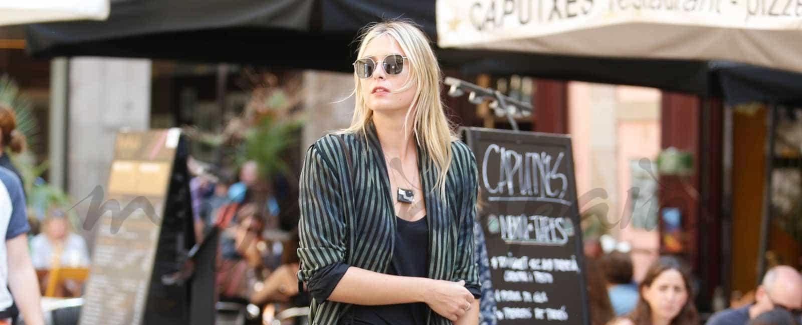 Maria Sharapova vacaciones en Barcelona