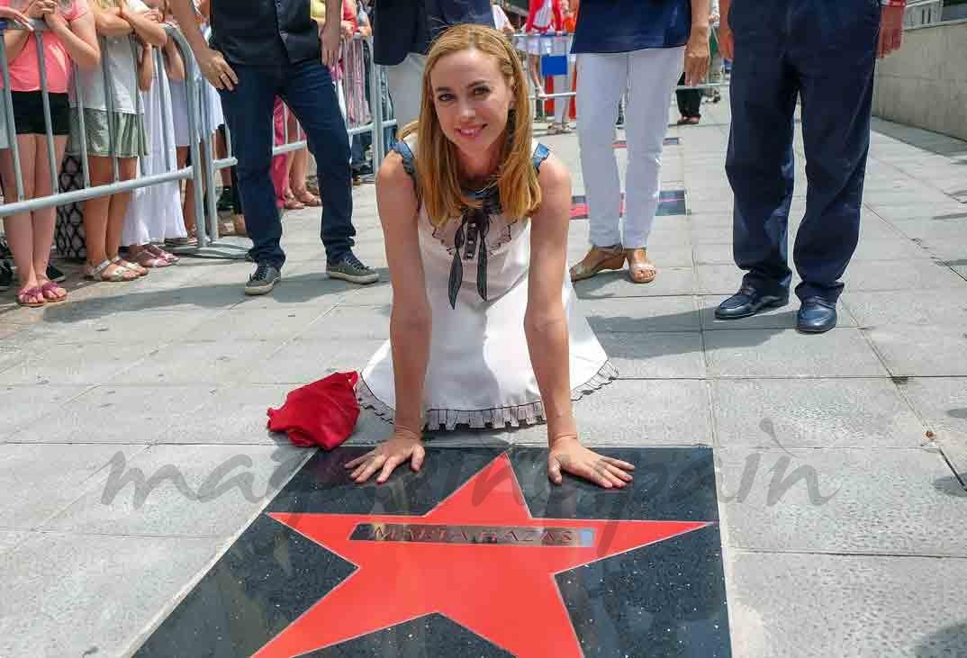 marta hazas ya tiene su estrella de la fama