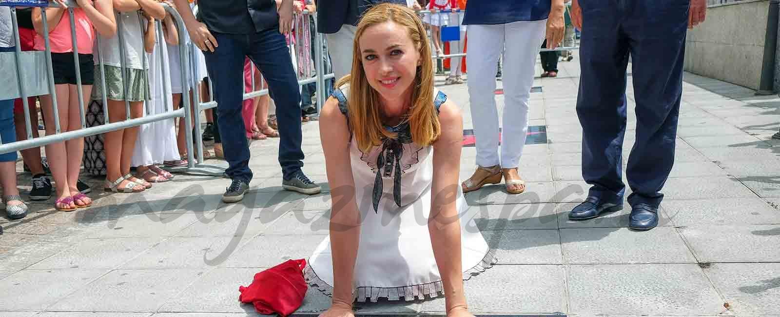 Marta Hazas ya tiene su estrella de la fama en Santander