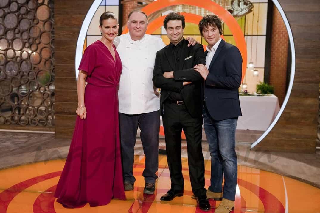 Samatha Vallejo Nájera, José Andrés, Pepe y Jordi - Jurado MasterChef Celebrity Final - © RTVE