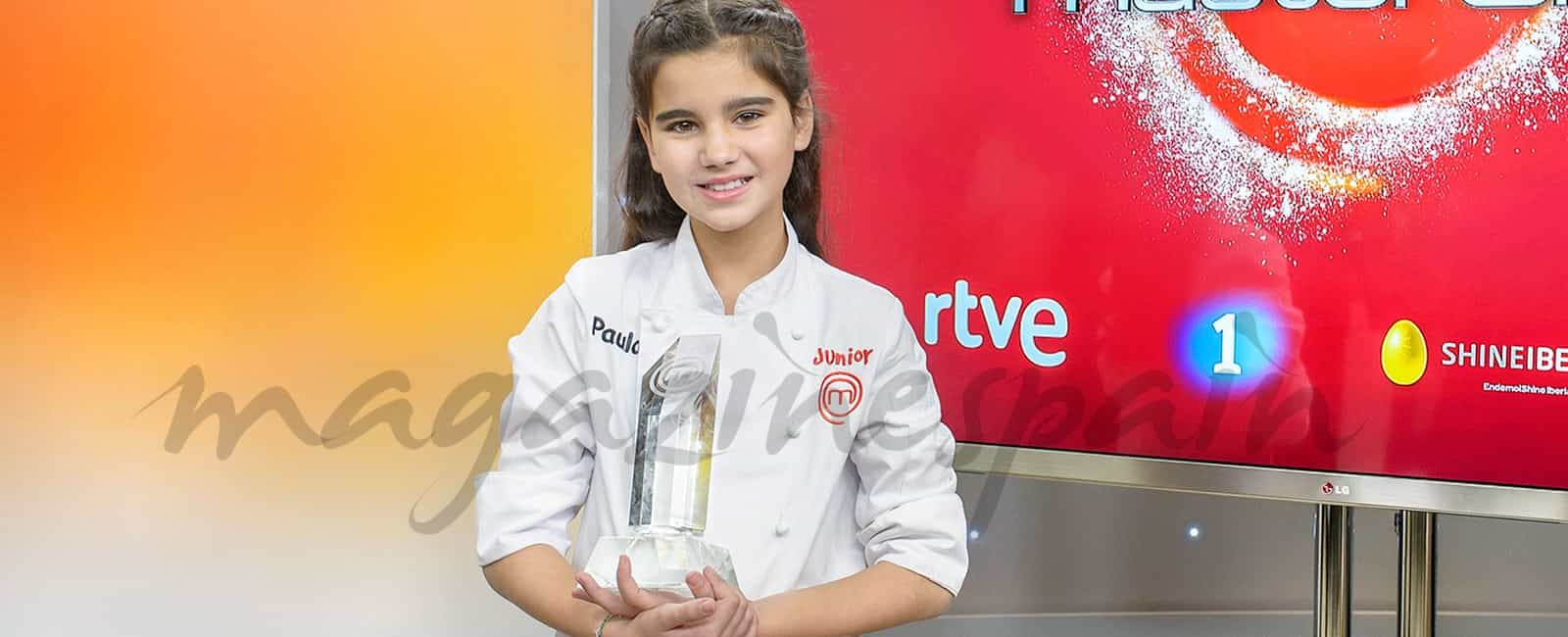 Paula consigue el trofeo de MasterChef Junior 4