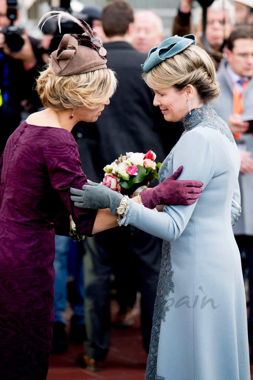 Reina Máxima de Holanda y reina Matilde de Bélgica