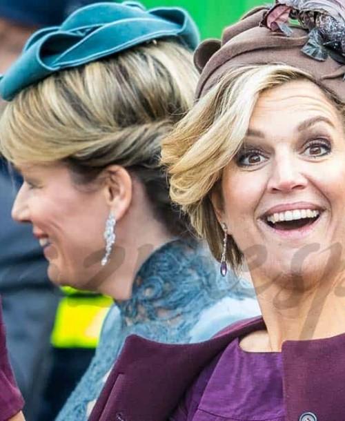 Las reinas Máxima y Matilde se suben al tren