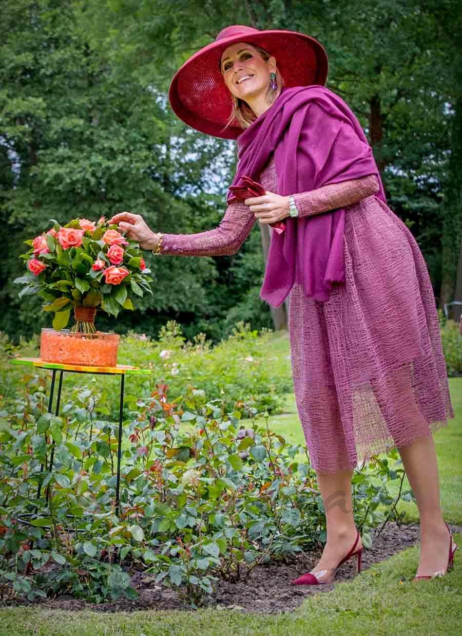 maxima de holanda celebra el dia nacional de las flores