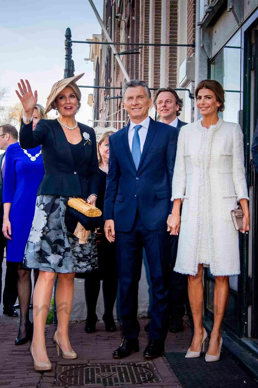 maxima de holanda y presidente argentino