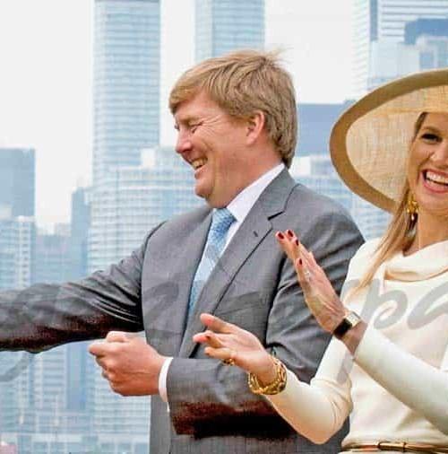 Máxima de Holanda le dice adiós a Canadá