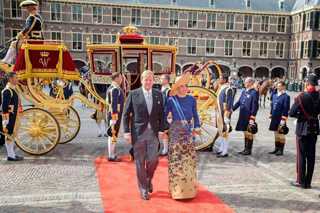 guillermo y maxima-de-holanda en la apertura del parlamento holandes