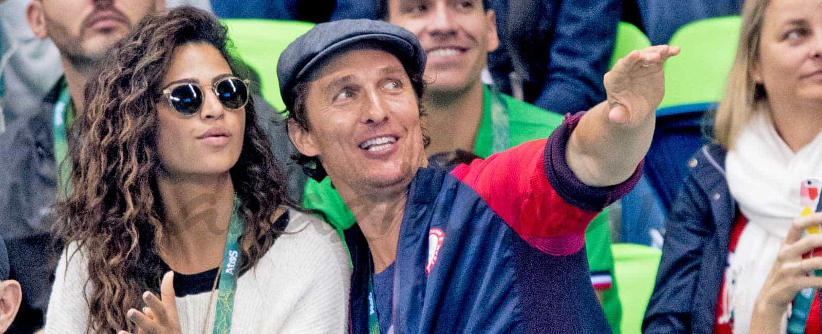 Matthew McConaughey revoluciona las gradas de Río