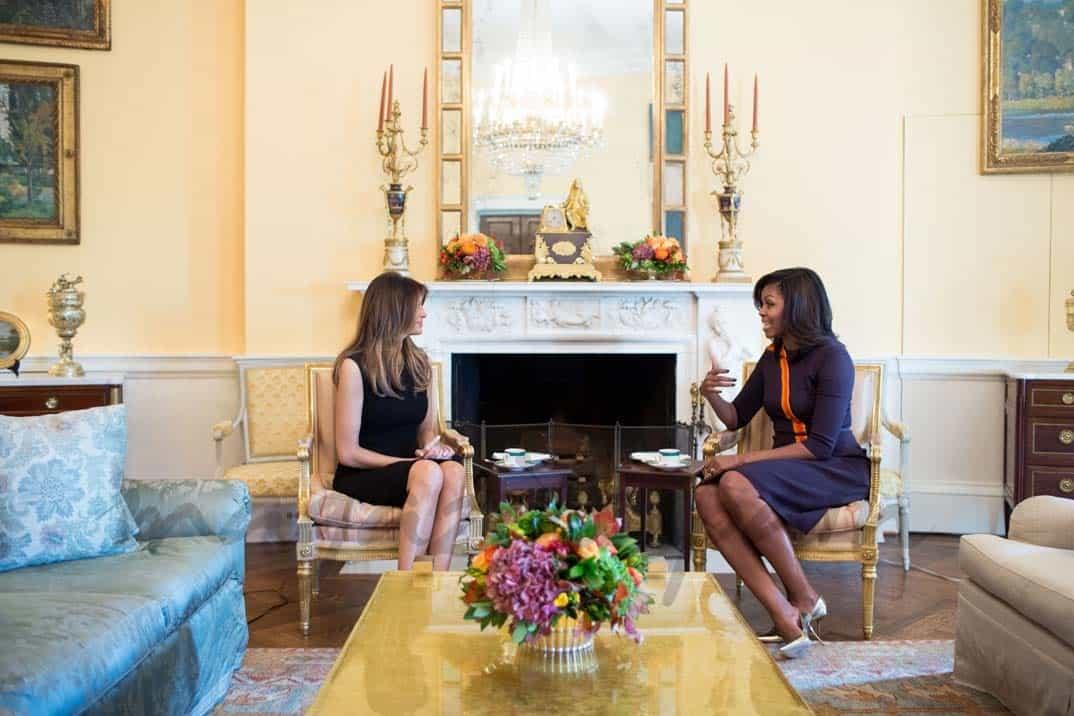 Melania Trum y Michelle Obama