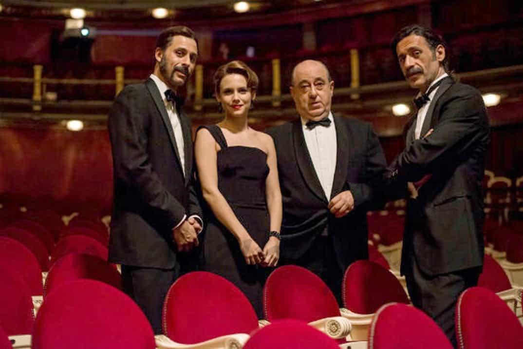 Hugo Silva, Amelia Folch, Alonso de Entrerríos y José Angel Egido - Ministerio del Tiempo © RTVE
