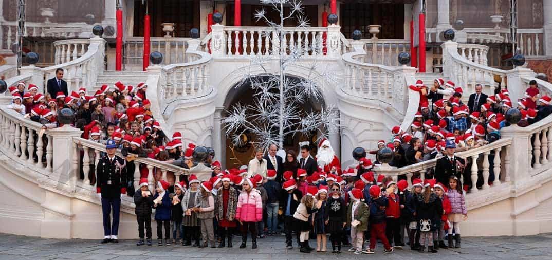 charlene y alberto inauguran la navidad en monaco