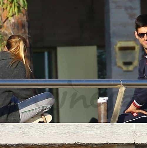 Novak Djokovic y Jelena Ristic, vacaciones de invierno
