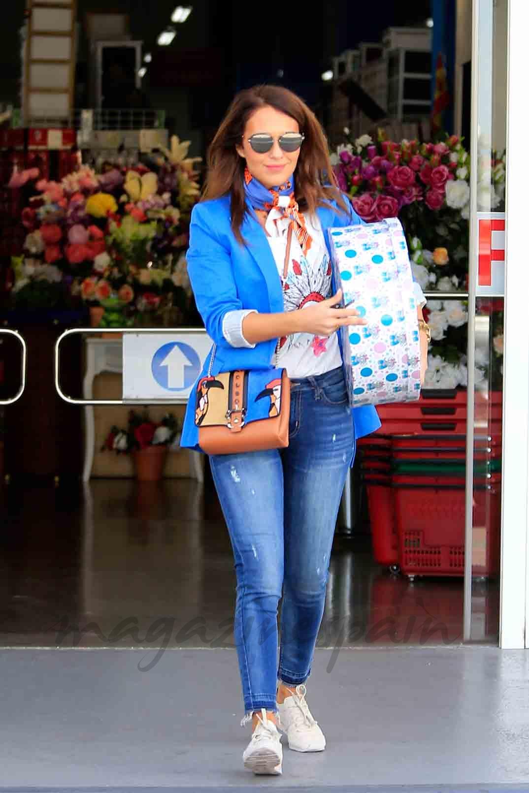 paula echevarria y su madre de compras