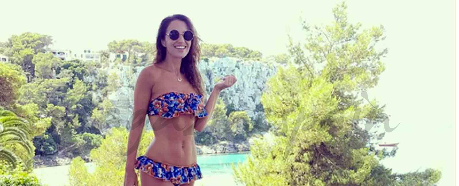 Paula Echevarría de Marbella a Menorca