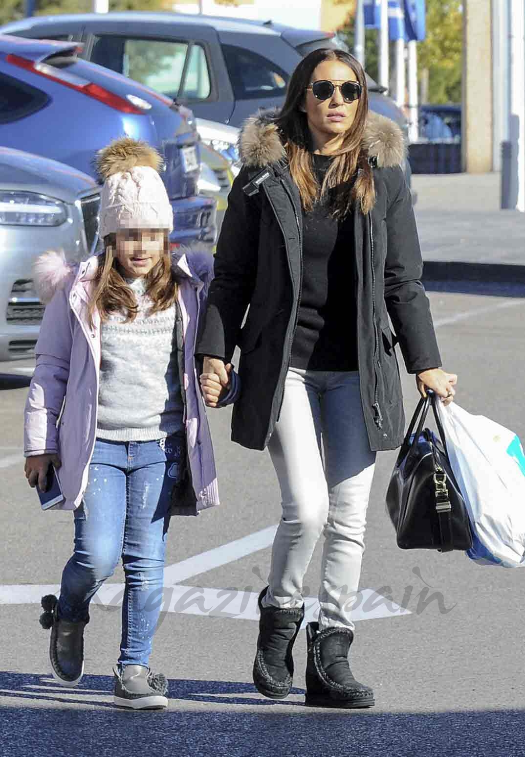 Paula Echevarría con su hija Daniella