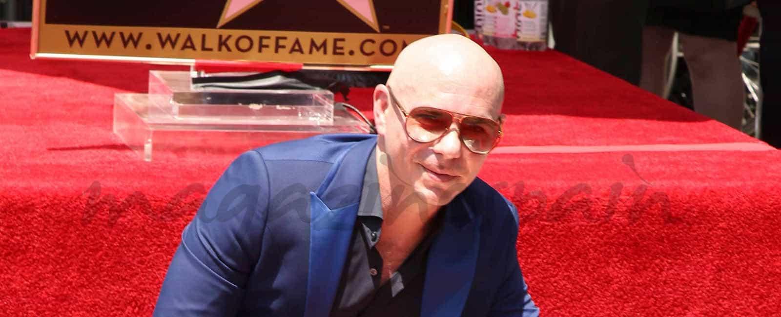 Pitbull ya tiene su estrella en el Paseo de la Fama de Hollywood