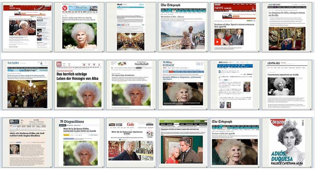 """El mundo entero reconoce a la Duquesa de Alba – """"Trending topic"""""""