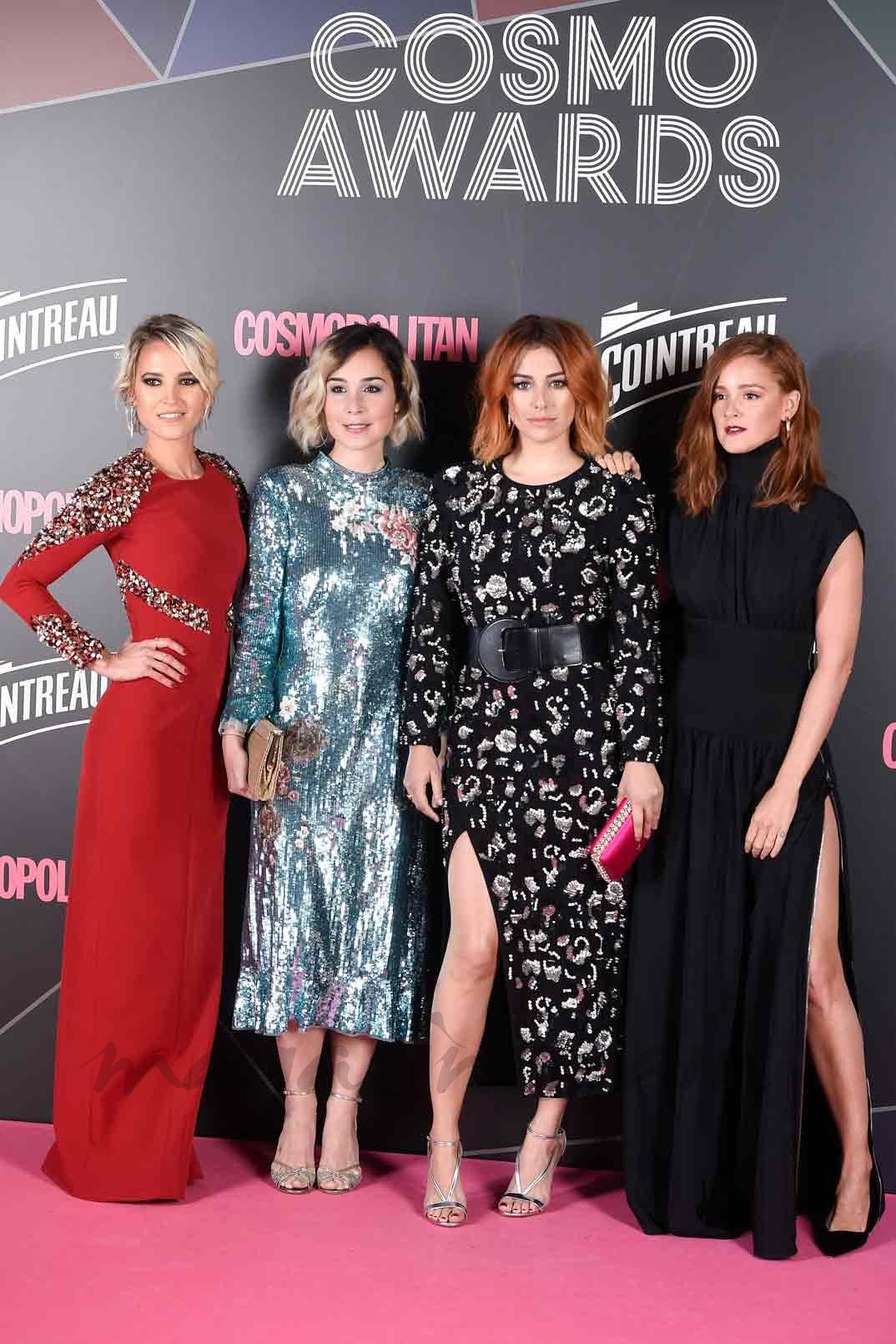 Ana Fernández, Nadia de Santiago, Blanca Suárez y Ana Polvorosa - Las chicas del cable - Premios Cosmopolitan 2017