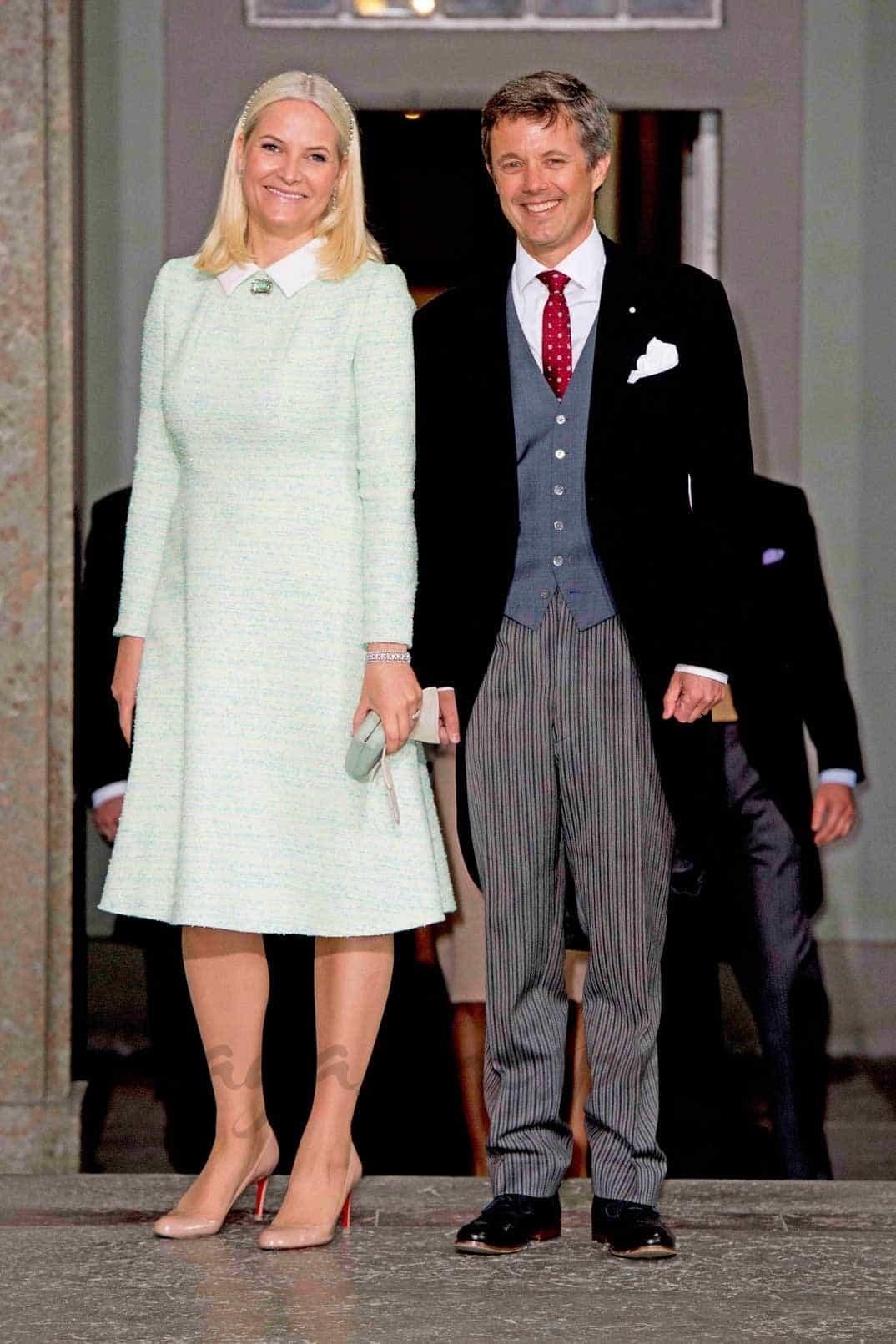 Princesa Mette-Marit y príncipe Federico de Dinamarca
