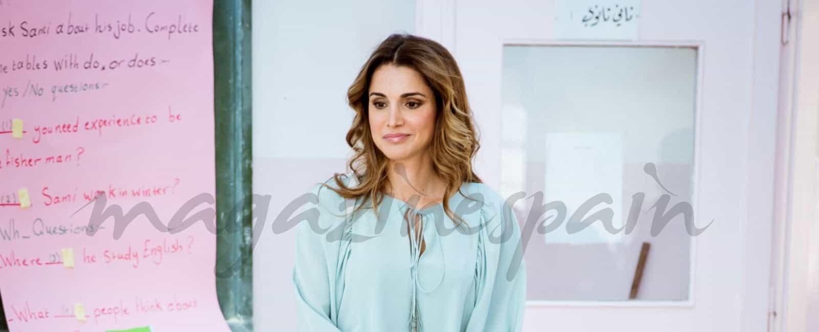 La reina Rania de Jordania, solidaria con su pueblo